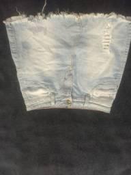 Saia jeans usada