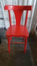 Cadeira Vermelha Madeira Thonart