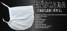 Máscara tnt camada tripla c/ clip nasal cx c/ 50 unidades