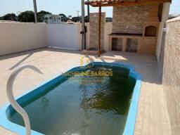 FC/ Ótima casa com 2 quartos,área gourmet e piscina em Unamar