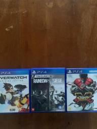 3 jogos PS4 por 165,00.