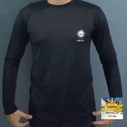 Camisa UV Proteção 50+Manga Longa