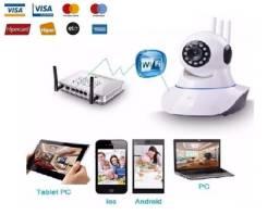 Câmera IP, Babá Eletrônica Wifi, Infravermelho, 3A, Android, Iphone Wi-fi