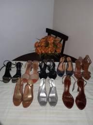Calçados femininos em bom estado