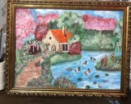 Pintura feia à mão