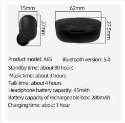 A6s TWS Wireless Bluetooth 5.0 Earphone