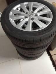 """Roda original civic com pneu 16"""""""