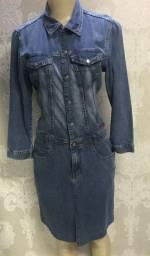 Vestido jeans siberian, tamanho M, manga longa