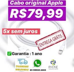 Cabo lightning Original Apple iphone (Entrega grátis) Aceito cartão !!