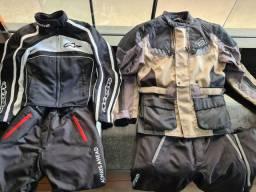 Jaquetas, calças e capacetes