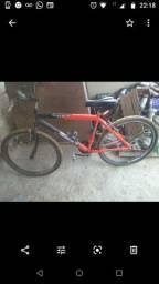 Vendo bicicleta aro 26 350 roda aero frios v brek zap *