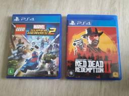 Dois jogos de. Play Station 4
