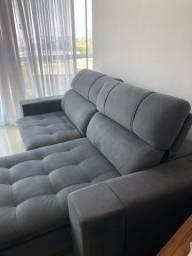 Sofá Cinza Super Confortável e Novo