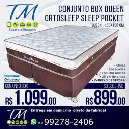 Qualidade, Conforto e Preço baixo! Colchão + Base Queen Com Frete Grátis!