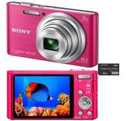 Sony Cyber Shot 16.1mp Dsc-w730 Rosa
