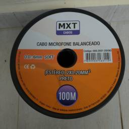 Cabo Microfone Balanceado estereo 2x 0.20mm² Mxt - 100metros