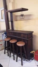Bar madeira rustica
