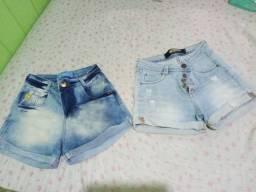 2 Shorts jeans (usados) t:40 pequeno