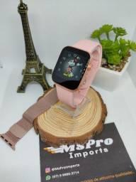 Relógio Inteligente/ Smartwatch Faz chamadas telefônicas + Pulseira de Aço