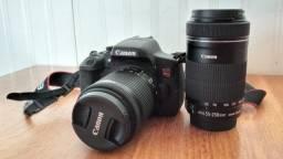 Câmera Digital Canon EOS Rebel T6i Kit Ef-s 18-55mm / Ef-s 55-250mm