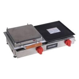 Chapa com prensa gás 70cm - JM equipamentos