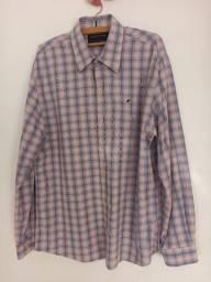Camisa xadrez masculina Ellus, tamanho GG