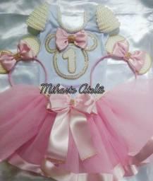 Roupa Festa Body saia de tule Minnie Bailarina Magali lol circo chefinha chuva de bênção
