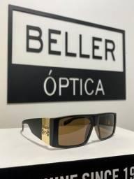 Óculos de Sol Evoke Bomber WD01 Black Wood Gold Brown Total Original com Nota Fiscal