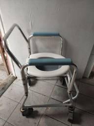 Cadeira de banho em alumínio reforça
