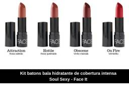 Kit batons bala hidratante de cobertura intensa Soul Sexy - Face It