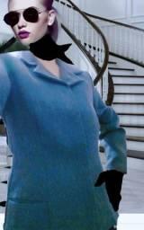 Blazer com botões escondidos