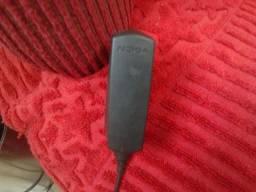 1 carregador de celular nokia preto funcionando barato leve pequeno simples