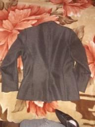 Blaser casaco feminino lã forrado  tamanho P tecido leve