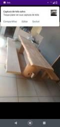 Mesa prancha 3 metrô 5 cm , com banco da mesma promoção