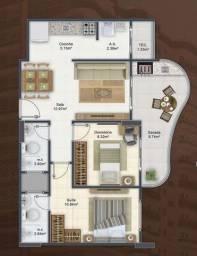 Apartamento com 2 dormitórios à venda, 74 m² por R$ 555.876 - Vila Guilhermina - Praia Gra