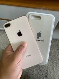 Iphone 8 Plus 64gb Gold Sem marcas Impecável todo original