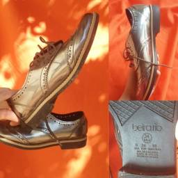 Sapato Oxford Metalizado