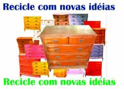 Comoda Chipandelle para reciclar com novas idéias. anos 50, Usada,