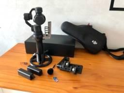Câmera portátil DJI Osmo + acessórios extras