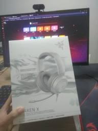 Headset Gamer Razer Kraken X, P2, Drivers 40mm, Mercury White