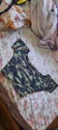 Cropped camuflado M