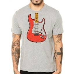 Título do anúncio: Camiseta Guitarra Stratocaster
