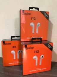 Fone Bluetooth i12 - Novo