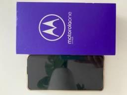 Motorola One Hyper c capa e película protetora c/ nota fiscal