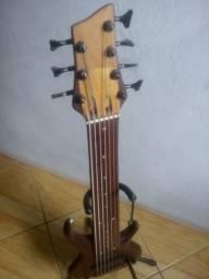 Baixo 7 cordas luthier fretless
