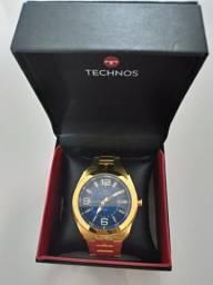 Relógio Tecnos Dourado .novo