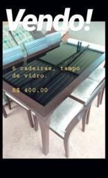 Mesa com 6 cadeiras Ubá-MG