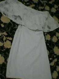 Vestido branco-curto