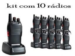 Lote com 10 Radios Comunicadores Ht Uhf 16 Canais 777s Baofeng