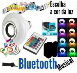 Lâmpadas de Led Colorida com Bluetooth